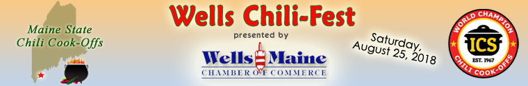 Wells Chili-Fest is presented by the Wells, Maine Chamber of Commerce, Wells, Maine